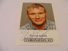 STEVEN ARNOLD Signed CORONATION STREET Cast Card Photo Autograph