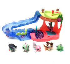 THE LITTLEST PET SHOP Toys AQUA SLIDE Playset & Animal figures set lot