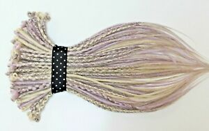 Pastel & Grey Mix Synthetic Dreads, 20 Inches, SE & DE Dreads, Thin & Smooth