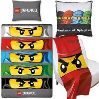 Lego Ninjago Eyes Duvet Cover & Canvas Cushion & Fleece Blanket Bedroom Set
