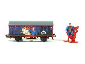 Start up - Gedeckter Güterwagen Superman, Märklin H0 44825 neu OVP