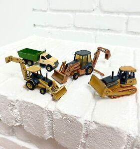 Lot Of John Deere Case Die Cast Construction Ertl Yellow Green Toys 1/64 1:64