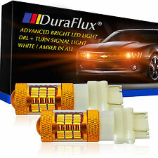 DuraFlux 3157 4157NA LED Switchback White Yellow Turn Signal Driving Light Bulbs