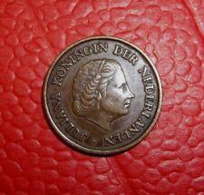 1952 5 Cent Münze Coin Niederlande Holland Königin Juliana Bronze