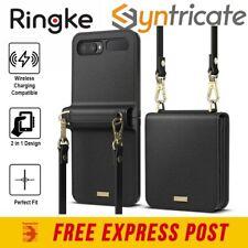Samsung Galazy Z Flip RINGKE Folio Signature Leather Case - Black
