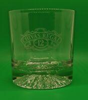 Vintage Chivas Regal 12 Year Etched Cocktail Glass Barware Vonpok Italy Limited