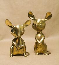 Mid-Century Vintage Limited Edition Sarna Brass Mice - Pair