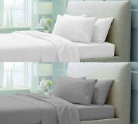 40CM EXTRA DEEP FITTED SHEET 600 THREAD COUNT 100% EGYPTIAN COTTON DOUBLE KING