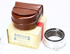 ROLLEI ROLLEIFLEX ROLLEINAR 2 BAY III BAJ 3 W/ CASE, BOX FOR 2.8F, GX -- EX+! #2