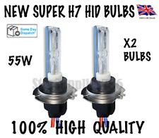 SUPER H7 XENON HID BULBS 55W METAL BASE 6000K/8000K AUDI VW BMW MERCEDES