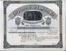 Plymouth Rock Mining Co. Stock Certificate Massachusetts