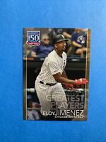 2019 Topps Update Eloy Jimenez 150 Greatest Players Gold Parallel RC #'d /50 🔥