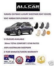 Sheepskin Car Seatcovers for Subaru Outback , Seat Airbag Safe, 5 Colours, 30mm