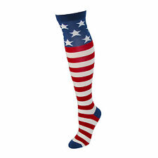 AMERICAN FLAG USA STARS AND STRIPES Knee High Socks 9-11