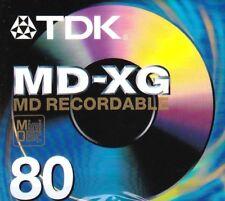 TDK MD-XG 80 MD RECORDABLE BLANK MINIDISC -