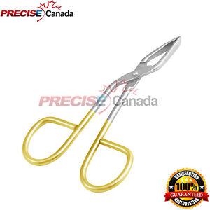 Steel Flat Tip Eyebrow Tweezers Clamp Clipper Scissors Hair Remover Black Gold