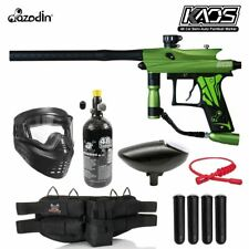 Maddog Azodin Kaos 3 Silver Hpa Paintball Gun Marker Starter Package Green