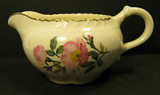 VINTAGE HARKER POTTERY 1940'S WILD ROSE  CREAMER/NICE CONDITION & COLORS/ NR