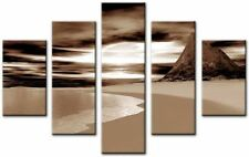 Brown Impressionist Abstract Art Prints