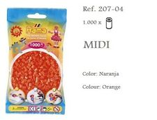 207-04 Hama Beads MIDI 1000x Piezas, color naranja, orange colour