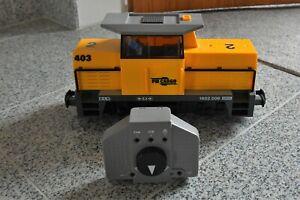 """Playmobil Eisenbahn; gelbe Diesellok aus Set 5258 """"TOP"""""""