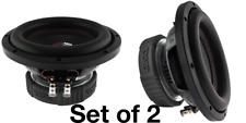 """2 Pack DS18 SLC 8S 8"""" Inch Subwoofer 800 Watts Max Power 4 Ohm Single Coil Bass"""