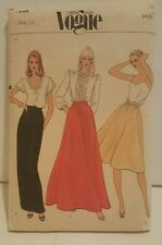 Vogue Pattern 7845 Size 12 Skirt Uncut Very Easy Sewing Aline Circular Flared