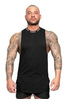 ADONIS.GEAR- PURSUIT, BLACK, SLEEVELESS SHIRT, MUSCLE TANK, GYM, SINGLET, TANK