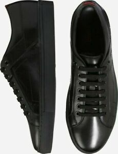 HUGO BOSS Original Herren Futurism Tenn It Sneakers Leder-Schwarz/Neu-Gr-45
