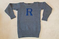 Vintage Rice Owls 1942 Varsity Letterman Pullover Sweater worn by Fred Jacob