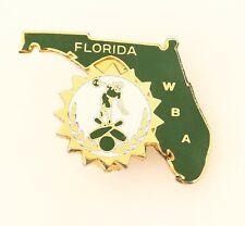 BROOCH bowling Florida, enamel, gold tone metal,
