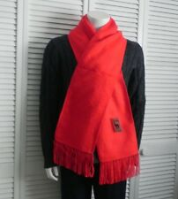 NEW Peru Beautiful Fringed Solid Red Alpaca Long Scarf