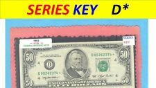 "== Series Key == 1993 "" D "" star note $50.00 FRN"
