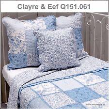 Clayre & Eef Tagesdecke Quilt Plaid Cremeweiß/blau 230x260 Cm