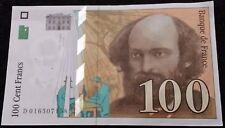 """Série:D.016507158"""".100frs 1997 CEZANNE 2trous BANK, AUCUNEfente"""