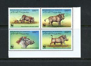 Y471  Djibouti  2000   fauna warthogs  block     MNH