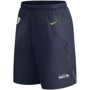 New 2021 NFL Seattle Seahawks Nike Coach Performance Dri-FIT Training Shorts NWT