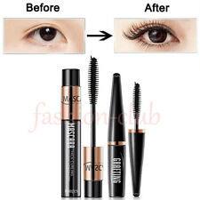 2pcs 4D Silk Fiber Eyelash Mascara Extension Curl Waterproof + Lash Mascara Kit
