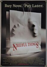 NEEDFUL THINGS DS ROLLED ORIG 1SH MOVIE POSTER STEPHEN KING MAX VON SYDOW (1993)