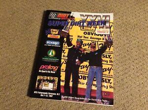 1997 SUPER DIRT WEEK DIRT TRACKIN' MAGAZINE NYS FAIRGROUNDS SYRACUSE NY