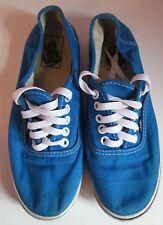VTG Ladies VANS Blue Canvas Laced Trainer/Shoe Size 5.5