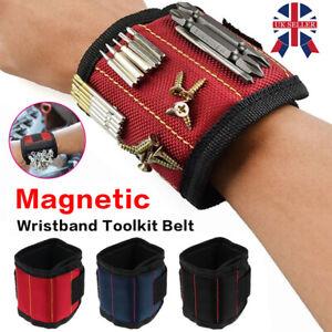 Magnetic Wristband Toolkit Wrist Band Tool Storage Bracelet Screw Holder Belt