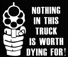 NOTHING IN THIS TRUCK funny car van, windows, lorry JDM vinyl decal sticker