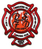 Deepstep Fire Department District Dept FD Rescue EMS Patch Georgia GA Patches -