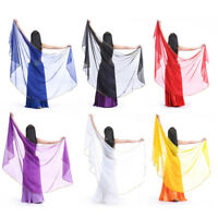 Belly Dance Sequins Veils Chiffon Shawl Scarf Wrap Indian Dance Accessories