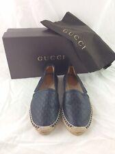 Ladies Gucci GG Microguccissimo Black Leather Espadrilles Uk 4.5 Eu 37.5