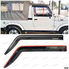 SUZUKI SAMURAI DOOR VISOR WEATHER SHIELD WIND DEFLECTOR UNBREAKABLE(SET Of 2)