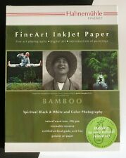 """Hahnemuhle Bamboo Fine Art Paper Warm Tone  290 gsm 8.5"""" x 11"""" - 20 Sheets"""