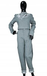 Comino Couture grey City Trouser Suit top trousers  RRP £250 SOLD OUT size 12