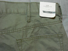 NEW OLD NAVY 36 x 34 pants gray grey SLIM 100% COTTON FLAT FRONT men's mens NWT